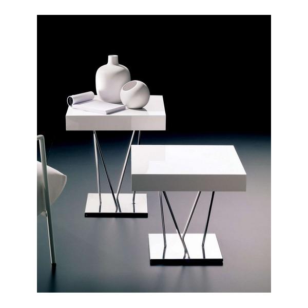 tavolino bontempi casa ginger - schembrishop - Tavolino Acciaio Laccato Ginger Bontempi